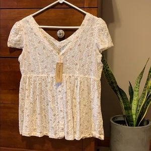 Denim & Supply Ralph Lauren blouse white floral M